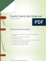 Teoria Geral Dos Sistemas - Fundamentos
