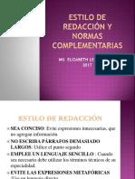 2- Estilo de Redacción y Normas Complementarias