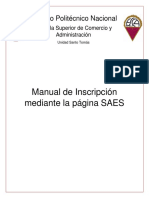 Manual Inscripcion SAES