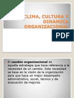 Clima, Cultura y Dinamica Organizacional