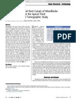 Anatomía del conducto radicular en el tercio apical