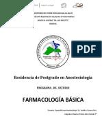 Programa Asignatura Farmacología Básica