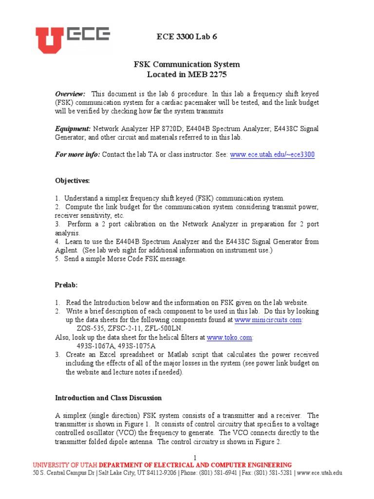 Lab 6 FSK Comm System | Antenna (Radio) | Amplifier