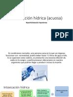 Intoxicación hídrica (acuosa)