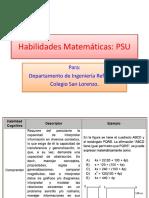 PSU habilidades matemáticas
