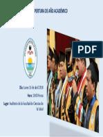 Ceremonia de Apertura de Año Academico 2018