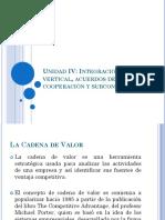 Integración Vertical, Acuerdos de Cooperación y Subcontratación