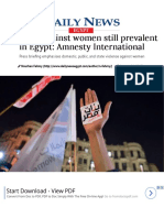 Violence Against Women Still Prevalent in Egypt