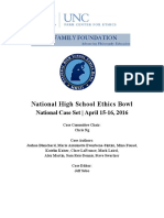 National Ethics Bowl Cases