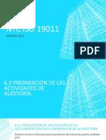 NTC ISO 19011 Numerales 6.3 y 6.4