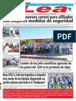Periódico Lea Martes 29 de Mayo Del 2018