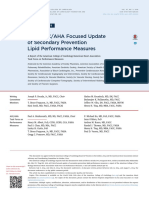 2015 ACC or AHA Focused Update of Secondary Prevention Lipid Performance Measures