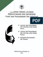 Pedoman Teknis Layanan Perpustakaan Dan Informasi