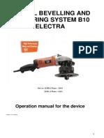 Operation Manual B10 ELECTRA Eng 18112017