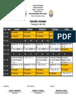 Teachers Program (1st Semester - SY 2018-2019)