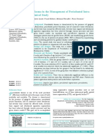 Use of Platelet Rich Plasma in the Management of Periodontal Intra Osseous Defects a Clinical Study