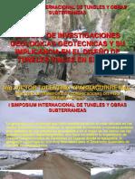 Exposicion Peruvias Metodo de Investigaciones en Tuneles Viales Vty