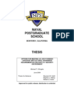 OPTIONS FOR MEETING U.S. NAVY FOREIGN LANGUAGE AND CULTURAL AWARENESS REQUIREMENTS IN THE POST 9/11 SECURITY ENVIRONMENT