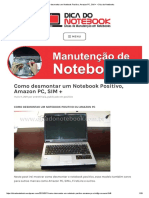 Como desmontar um Notebook Positivo, Amazon PC, SIM + – Dica do Notebooks2