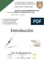 Practica N° 4  Influencia de la vía de administración en los niveles plasmáticos de sulfatiazol en la rata.pptx