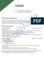 DevOps Sample Resume 1