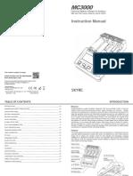 MC3000 Charger Manual (English V1.13)