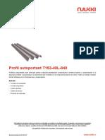 Profil Autoportant T153 40L 840