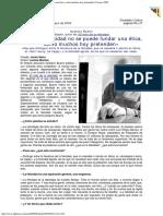 2005 - Gustavo Bueno - Sobre La Felicidad No Se Puede Fundar Una Ética, Como Muchos Hoy Pretenden. La Nueva España
