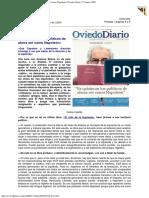 2003 - Gustavo Bueno - Ya Quisieran Los Políticos de Ahora Ser Como Napoleón Oviedo Diario
