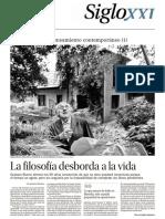 2014 - La Filosofía Desborda La Vida. Siglo XXI