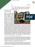 2000 - Gustavo Bueno «Se Suele Oponer Europa a España, Pero España Es Europa Antes Que Otras Muchas Naciones» Magazine 9 Enero 2000