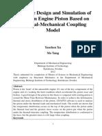 Titanium Engine Piston