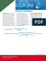 Aquaculture Water Treatment Calculationsof