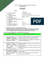 Silabo - Proyecto de Investigacion e Inn. Tecn. - IV - 2016