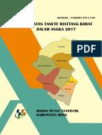 Kecamatan Tanete Riattang Barat Dalam Angka 2017