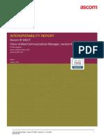 Ascom Interoperability Report - CUCMv8.6 - R4
