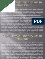Sejarah Masuknya Islam Di Maluku
