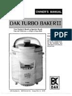 DAK Turbo Baker II FAB 2000 Manual