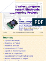 How to Select, Prepare and Present Electronic Engineering Project