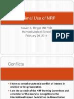01 Ringer Optimal Use of NRP 201411 SrCs 1