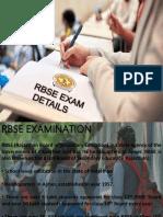 RBSE Exam Details