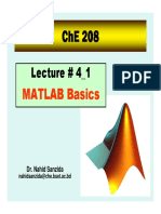 MATLAB Lecture 4 1