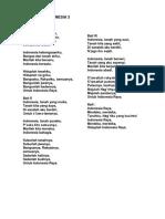 Lirik Lagu Indonesia 3 Stanza