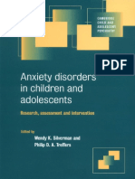 (Cambridge Child and Adolescent Psychiatry) Wendy K. Silverman, Philip D. a. Treffers-Anxiety Disorders in Children and Adolescents_ Research, Assessment and Intervention -Cambridge University Press ( (1)