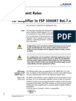 Deployment Rules for Amplifier in FSP 3000 Release 7.x V1_0