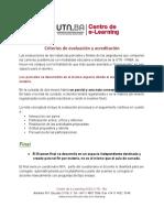 Criterios de Evaluación y Acreditación