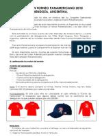 Invitación Panamericano 2010