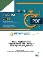Metal Replacement Forum 2014