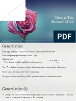 Tricks&Trips MS Word March 2018