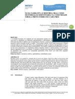 Chagas, m. e Vieira, t. a Utilização Da Narrativa e História Oral Como Instrumento de Formação Identitária Na Comunidade Quilombola Preto Do Forro Em Cabo Frio
